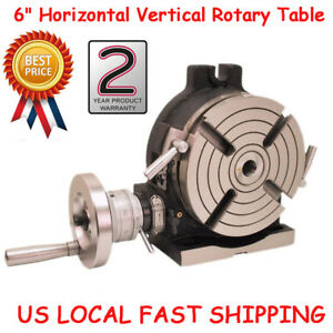 6 Hv6 Horizontal Vertical Rotary Table High Precision Mt2 90 1 28 Lbs us Fast