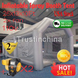 26 13 10 Ft Automotive Car Workstation Inflatable Paint Tent Fast Spray Booth