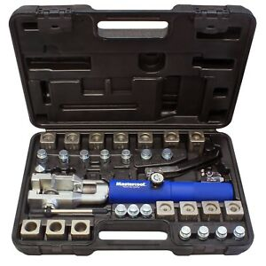 Mastercool 72475 prc Blue And Silver Universal Hydraulic Flaring Tool Set With