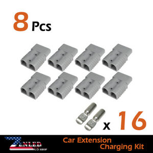 8x Gray 600v 175amp Dc Power Connector Battery Plug 24x Terminals Caravan Kit