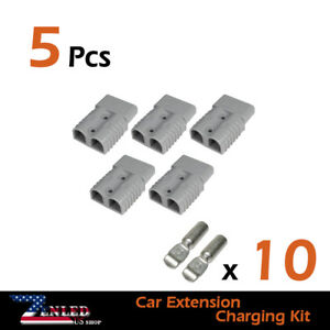 5pcs Battery W terminal Plug Connectors Sb175amp Kit For Rv Trailer Caravan 4wd