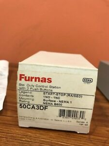 Furnas 50ca3df Control Station 2 Push Buttons Start And Stop New In Box