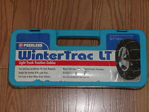 Truck Tire Cable Chains Peerless 0196555 Lt215 85r16 Lt235 75r16 265 55r17