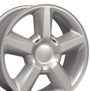 20 Rims Fit Gm Chevy Tahoe Yukon Silver Tahoe Wheels 5308 Cv83 Set Of 4