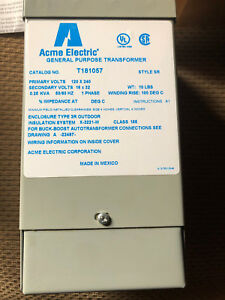 T181057 Acme Electric Dry Type Distribution Transformer 50 60 Hz