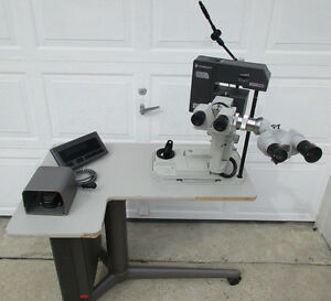 Coherent 7970yag Laser W Zeiss F 125 50 Heads Powered Table