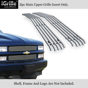 Fits 1994 1999 Chevy C k Pickup suburban tahoe Stainless Steel Tubular Grille