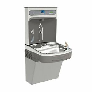 Elkay Lzs8wslk Wall Mount Drinking Fountain With Bottle Filler Station Light