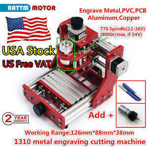 us 1310 Mini Cnc Router Pcb Wood Metal Cutter Milling Engraving Machine Er11