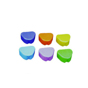 200pcs Wholesale Dental Deep Dish Retainer Box Mixed Color Teeth Retainer Lov