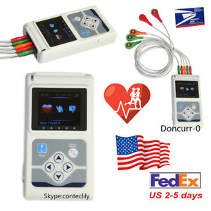 Fda 3 channel Holter Ecg Record Monitor 24hrs Measure Software Analysis Monitor