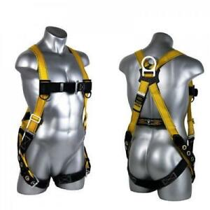Safety Harness Prevent Fall Climbing Gear Roof Protection Lanyard Thru Chest