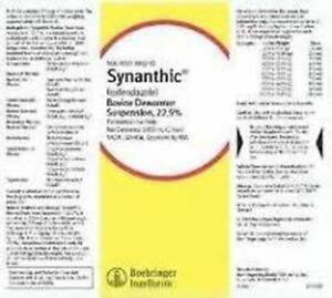 Synanthic Drench Wormer Cattle Sheep Parasite 500ml Dewormer Suspension 22 5