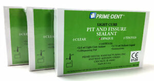 3 Prime Dental Visible Light Cure Pit And Fissure Sealant Kit Resin Bond Opaque