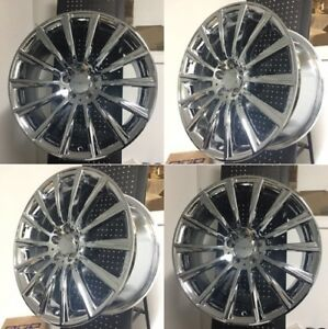 New 20 S550 Amg Style Chrome Staggered Wheels Rims Fits Mercedes Benz Set Of 4