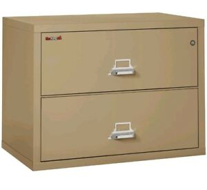 Fireking Fireproof 2 drawer Lateral File Cabinet Sand 2 3822 csa Brand New