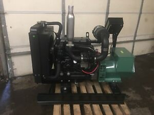 New 30 Kw Generator John Deere Diesel 4024tf 0 Hrs 12 Lead 120 240 Tier 4