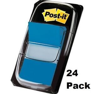 24 Dispensers Post it Flags 1 Wide Blue 50 Flags dispenser 680 2 24