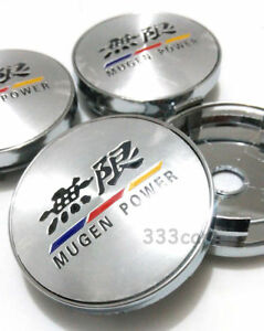 New 60mm Mugen Power Wheel Center Caps Cover Fit Accord Civic Fit City