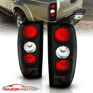 1998 2004 Replacement Euro Black Tail Light Housing Pair For Nissan Frontier