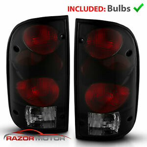 1995 2000 Replacement Dark Smoke Tail Light Pair For Toyota Tacoma W Bulb Socket