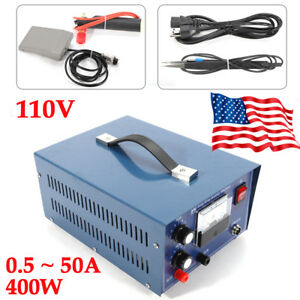 50a Jewelry Welding Machine Tool Electric Pulse Sparkle Spot Welder Us Ship