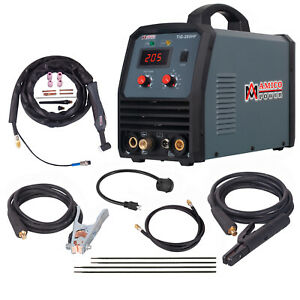 Tig 205 200 Amp Hf tig Torch Stick Arc Welder 115v 230v Inverter Welding New