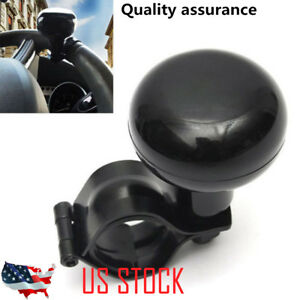 Us Stock Black Car Steering Wheel Aid Power Handle Assist Spinner Knob Ball