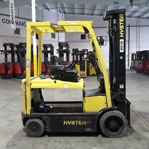 2013 Hyster E65xn 40 Electric Forklift 98 211 3 Stage Mast 48v