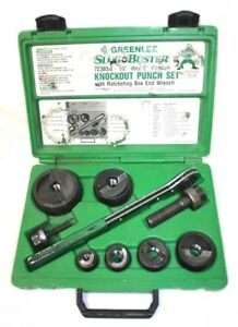 Greenlee 7238sb Slugbuster 1 2 2 Wratcheting Knockout Punch Set ref C