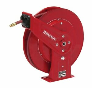Reelcraft 7830 olp 1 2 X 30 Spring Retractable Hose Reel 300 Psi W Hose