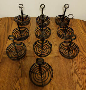 American Metalcraft Fwc69 Flat Coil Condiment Rack Caddy Set Of 10