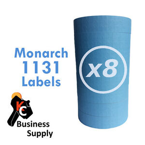 Blue Labels For Monarch 1131 Price Gun 8 Sleeves 64 Rolls Quality Made In Usa