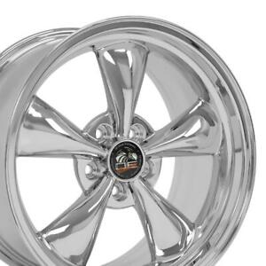 18x9 Rims Fit Mustang Bullitt Style Chrome Wheels Set