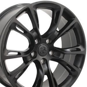 20 Rims Fit Jeep Grand Cherokee Srt8 Durango Satin Black Wheels 9113