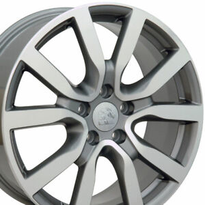 18 Rims Fit Volkswagen Vw Golf Gti Passat Jetta Eos Gunmetal Machd 69943 Set