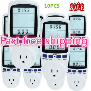 1 10pack Power Meter Energy Monitor Energy Consumption Electric Monitor Socket