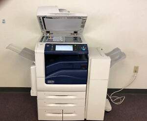Xerox Workcentre 7855 Color Copier Machine Network Printer Scanner Fax Finisher