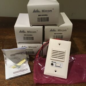 lot Of 5 Mircom Mh s25wa Mini Horn Silenceable Piezoelectric Fire Alarm Siren