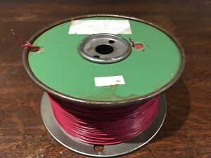 Wire Tm 27 22 Awg Cu 597m 1959 Philips Cables Solid Red