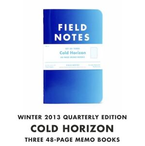 Field Notes Cold Horizon Sealed 3 pack Of Memo Books Winter 2013 Fnc21 New Rare