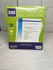 Samsill Heavyweight Non glare Sheet Protectors Box Of 200 Plastic Page Acid