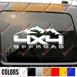 4x4 Off Road Decal Sticker Car Vinyl Fit For Jeep Ford Chevrolet Toyota Mountain
