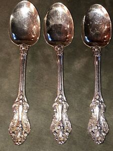 3 Reed Barton King Francis Silverplate Tablespoon 6 3 4
