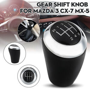 Leather 6 Speed Car Gear Shift Knob For Mazda 3 5 6 Series Cx 7 Mx 5 03 17 Us