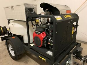 Pressure Washer Jetter System Landa Trailer Mounted Hot Water steam