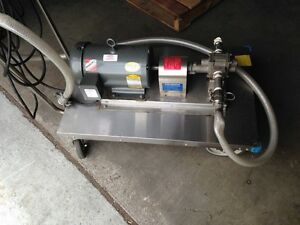 Baldor Motor With Pump 2 Hp Spark Resistant Good Condition