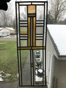 Antique Vintage Leaded Stained Glass Window Slag Transom Salvage Victorian 1900