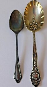 Duhme Co Patent 1891 Sterling Silver Serving Spoon 25 Grams Baby Spoon 10 Gram