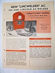 Lincoln A C 180 Amp Welder Brochure